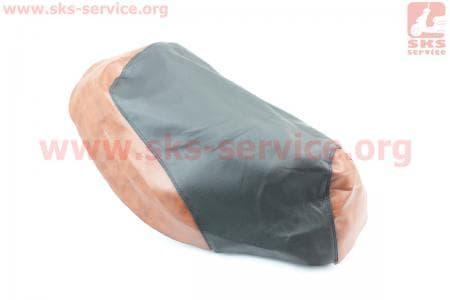 Чехол сидения Yamaha ARTISTIC (эластичный, прочный материал) черный/коричневый