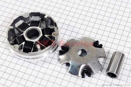 Вариатор передний + втулка к-кт для китайских скутеров на двигатель 50-100сс 4-Т