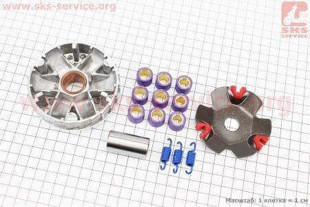Вариатор передний к-кт, ТЮНИНГ набор для китайских скутеров на двигатель 50-100сс 4-Т