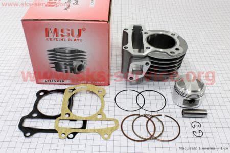 Цилиндр к-кт (цпг) 100cc-50мм для китайских скутеров на двигатель 50-100сс 4-Т