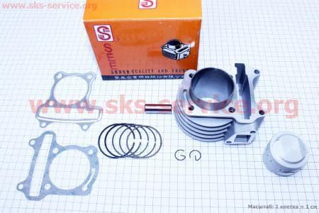 Цилиндр к-кт (цпг) 100cc-50мм желтая коробка для китайских скутеров на двигатель 50-100сс 4-Т