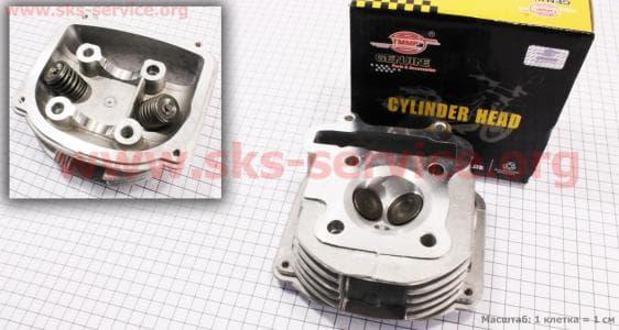 Головка цилиндра+клапана в сборе 125сс для китайских скутеров на двигатель 125,150сс 4-Т
