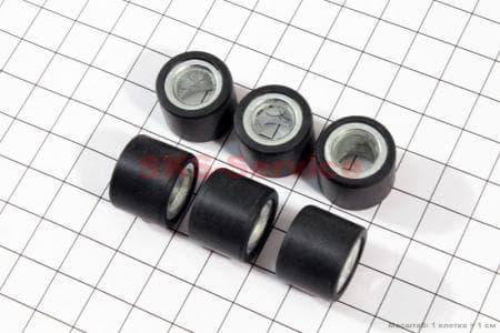 Ролики вариатора 6шт, 18*14 - 12гр для китайских скутеров на двигатель 125,150сс 4-Т