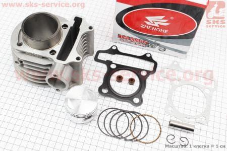 Цилиндр к-кт (цпг) 100cc-50мм для китайских скутеров на двигатель 125,150сс 4-Т