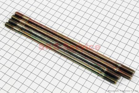 Шпилька цилиндра к-кт 4шт (185мм-2шт, 195мм-2шт) для китайских скутеров на двигатель 125,150сс 4-Т