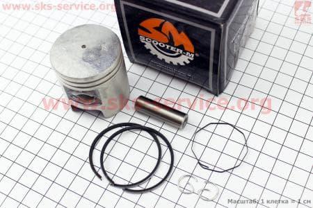 Поршень, кольца, палец к-кт 50сс 41мм +0,75 для китайских скутеров на двигатель TB50,65сс 2-T цепной вариатор