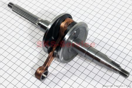 Коленвал (палец 10, 17шлицов) для китайских скутеров двигатель 2-T ременной вариатор