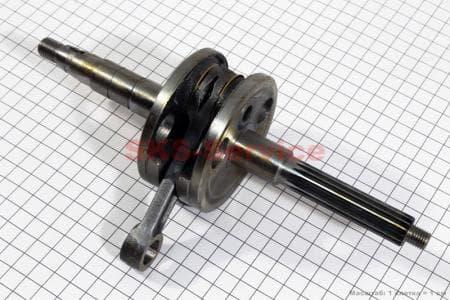 Коленвал (палец 12, 15шлицов) Yamaha ТА-0036-2т-Yamaha для китайских скутеров двигатель 2-T ременной вариатор