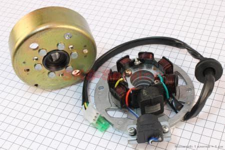 Магнето в сборе для китайских скутеров двигатель 2-T ременной вариатор