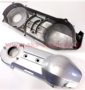 Крышка двигателя левая (вариатора) 250сс для китайских скутеров на двигатель 250сс 4-т водяное охлаждение