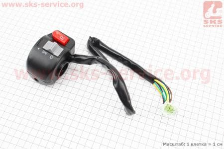 Блок кнопок на руле правый для скутеров Race 1, 2, 3 (Viper), Velon(Defiant) купить в Украине