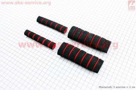 Грипсы - чехлы на рычаги тормозные и рукоятки к-кт 4шт КРАСНЫЕ для скутеров Wind (Viper) купить в Украине