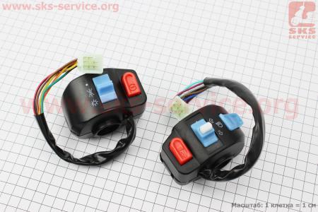 Блок кнопок на руле левый + правый к-кт для скутеров GRAND PRIX (Viper) купить в Украине