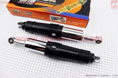 Амортизатор задний черный регулир. к-кт 2шт 340mm (переключатель 1-2чел.) для мопедов Delta (Viper) купить в Украине