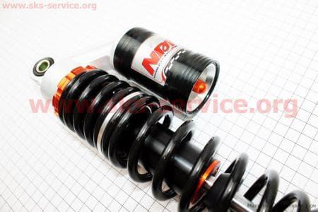 Амортизатор задний газовый регулируемый 330мм, к-кт 2шт, черные для мопедов Delta (Viper) купить в Украине